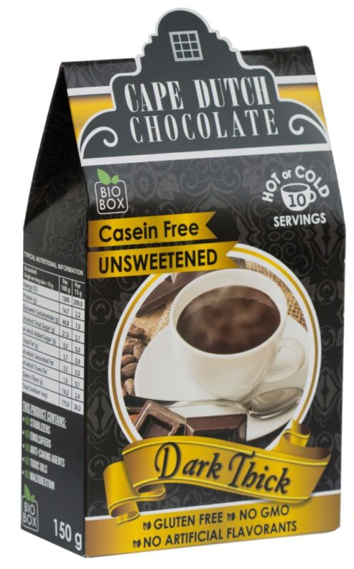 DARK THICK HOT CHOCOLATE Casein Free & Unsweetened