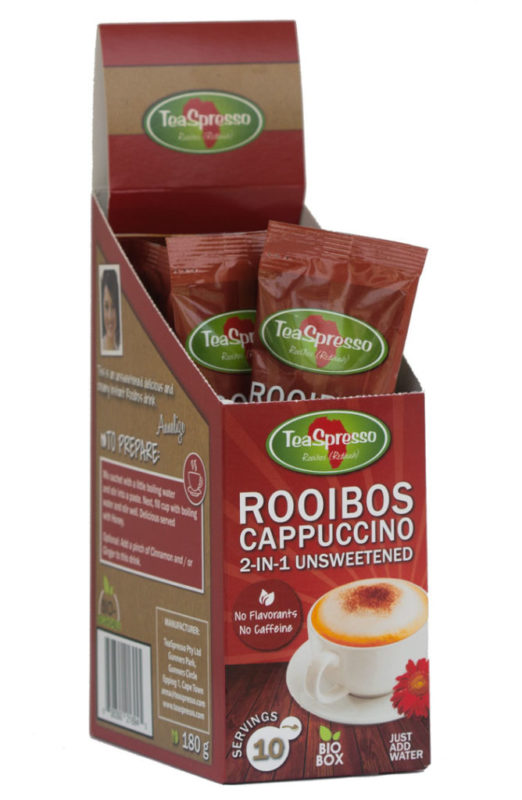 ROOIBOS CAPPUCCINO 2-IN-1 UNSWEETENED SACHETS