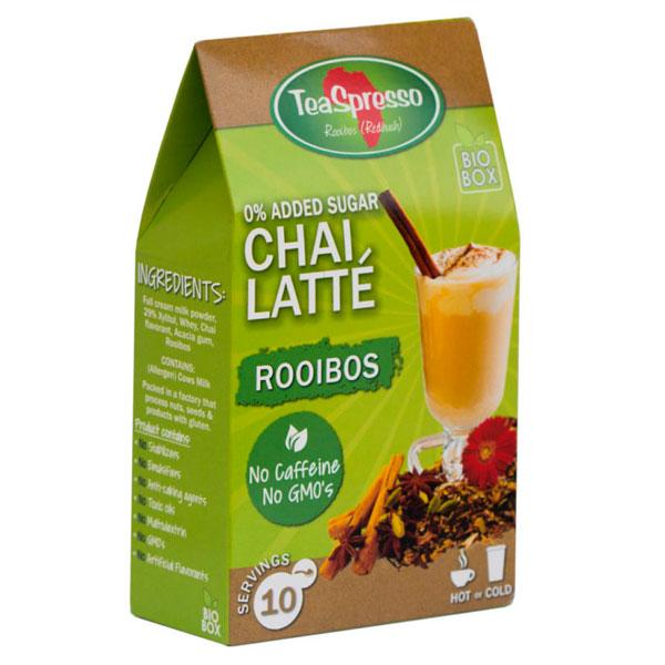 0% ADDED SUGAR CHAI LATTE