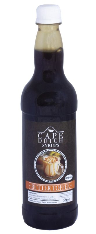 Cape Dutch Butter Toffee Syrup