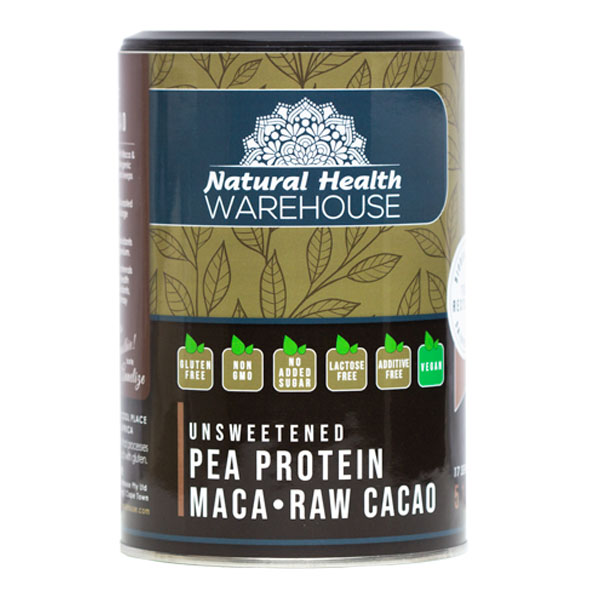Natural Health Vegan Pea Protein – Maca & Raw Cacao 510g