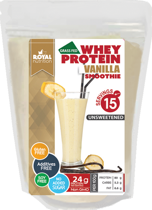 Royal Nutrition Whey Concentrate Vanilla Protein 450g